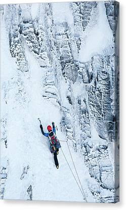 Mountaineer Winter Climbing Canvas Print by Ashley Cooper