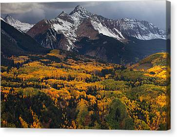 Mountainous Storm Canvas Print by Darren  White