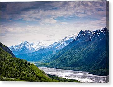 Mountains Along Seward Highway Canvas Print by Andrew Matwijec