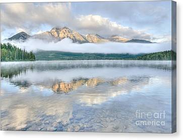 Mountains And Fog Canvas Print