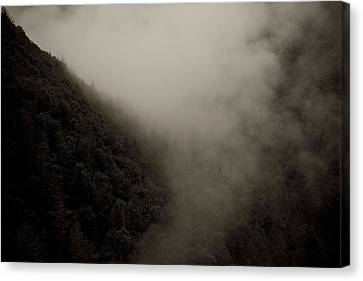 Mountains And Mist Canvas Print by Shane Holsclaw