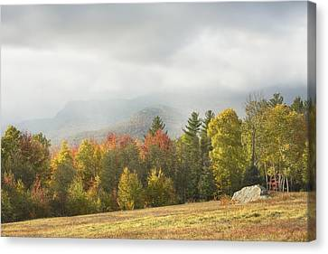 Maine Mountains Canvas Print - Mountains And Rain Storm In Fall Mount Blue State Park Weld Maine by Keith Webber Jr