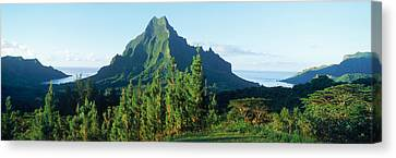 Mountains At A Coast, Belvedere Point Canvas Print by Panoramic Images