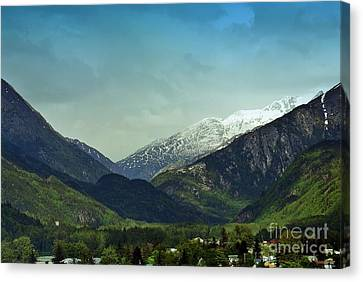 Mountains Beyond Skagway Canvas Print