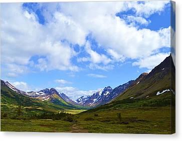 Mountains In Anchorage Alaska Canvas Print by Dacia Doroff