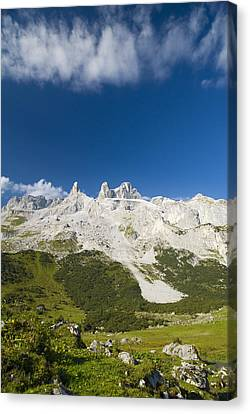 Mountains In The Alps Canvas Print by Chevy Fleet
