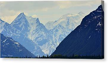 Mountains Near Matanuska Glacier Canvas Print by Andrew Matwijec
