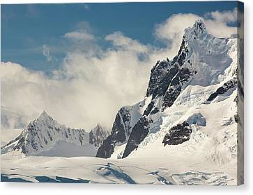 Mountains On The Antarctic Peninsular Canvas Print by Ashley Cooper