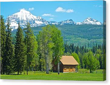 Mountains On West Side Of Glacier Np-mt Canvas Print