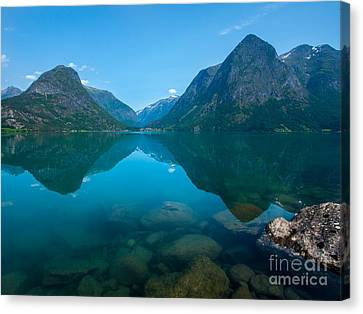 Mountains Canvas Print by Rose-Maries Pictures