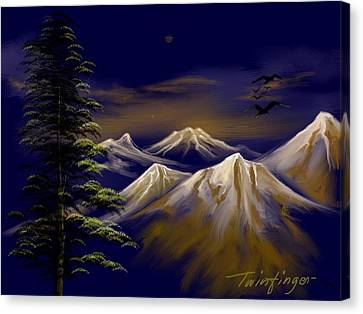 Mountains Canvas Print by Twinfinger
