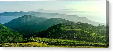 Mountaintop Panorama Canvas Print by Roy Cruz
