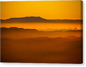 Mountaintop Sunset Canvas Print by Michael Courtney