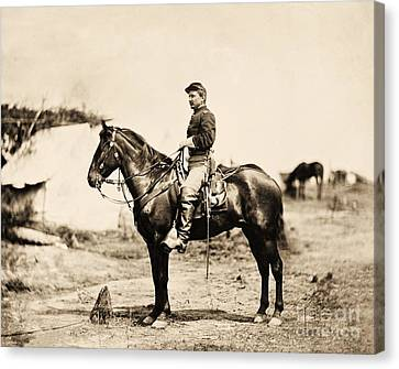 Sullivan Canvas Print - Mounted Cavalry Officer by Pg Reproductions