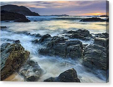 Canvas Print featuring the photograph Mourillar Beach Galicia Spain by Pablo Avanzini