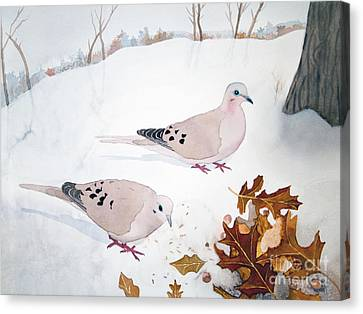 Mourning Doves Canvas Print by Laurel Best