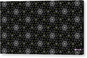 Canvas Print featuring the digital art Mourning Weave by Elizabeth McTaggart