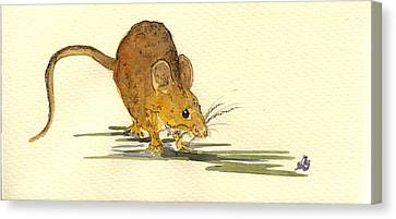 Mouse Canvas Print by Juan  Bosco