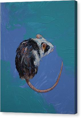 Mouse Canvas Print by Michael Creese