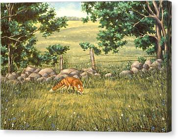Mouse Patrol Canvas Print by Richard De Wolfe