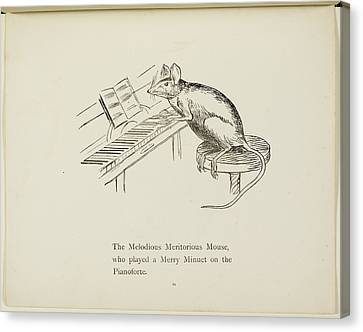 Edition Canvas Print - Mouse Playing Piano by British Library