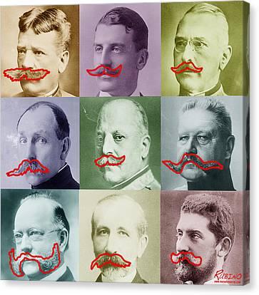 Moustaches Canvas Print by Tony Rubino