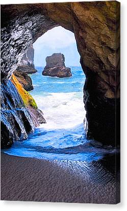 Mouth Of The Magician's Cave - California Coast Canvas Print by Mark E Tisdale