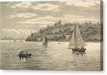 Mouth Of The Shrewsbury River 1872 Engraving Canvas Print by Antique Engravings
