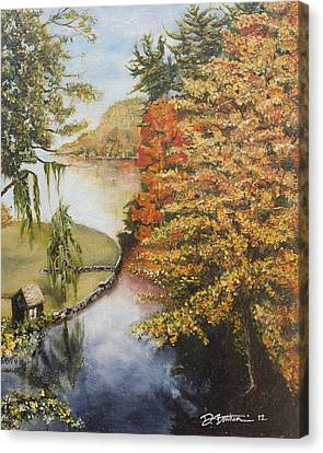 Mouth Of The Susquehanna Canvas Print by Debbie Bathen