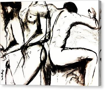 Canvas Print featuring the drawing Move On by Helen Syron