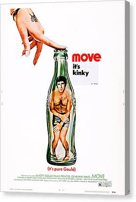 Covering Up Canvas Print - Move, Us Poster Art, Elliott Gould by Everett