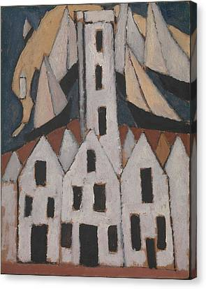 Movement No. 5, Provincetown Houses Canvas Print by Marsden Hartley