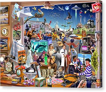 Imagination Canvas Print - Movie Madness by Adrian Chesterman