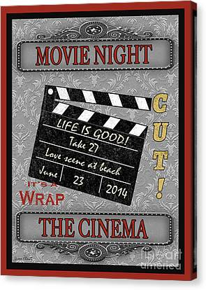 Movie Night-jp2205 Canvas Print by Jean Plout