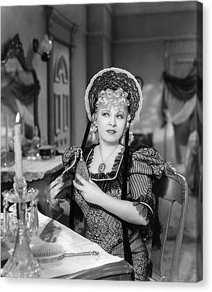Concentration Canvas Print - Movie Star Mae West by Underwood Archives