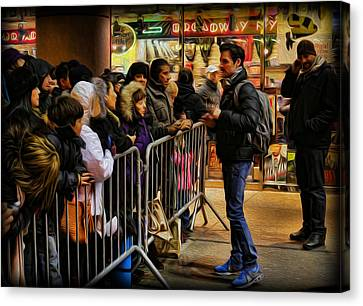 Movie Stars - The Artist Signing Autographs Canvas Print by Lee Dos Santos