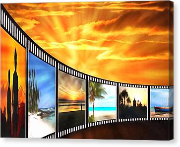 Movies At Sundown Canvas Print