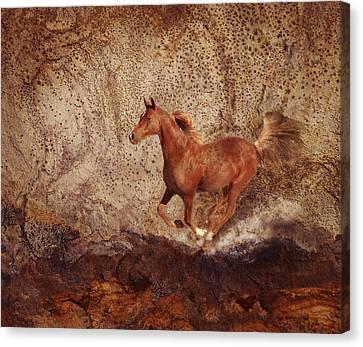 Movin' On Canvas Print by Melinda Hughes-Berland