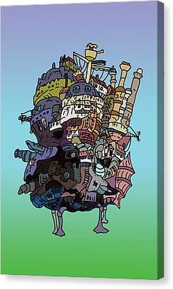 Moving Castle Canvas Print by Jera Sky