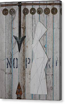 Canvas Print featuring the sculpture Moving Target  C2011 by Paul Ashby