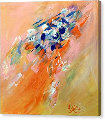 Canvas Print featuring the painting Moving Up by Arlene Holtz
