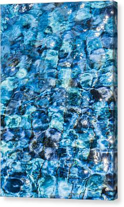 Canvas Print featuring the photograph Moving Water 2 by Leigh Anne Meeks
