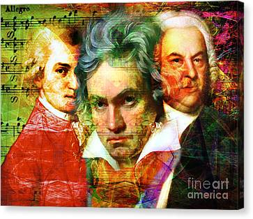 Mozart Beethoven Bach 20140128 Canvas Print by Wingsdomain Art and Photography
