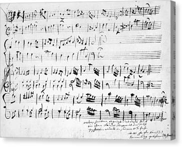 Mozart Minuet In G, 1762 Canvas Print by Granger