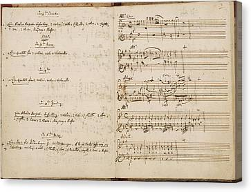Mozart's Thematic Catalogue Canvas Print by British Library