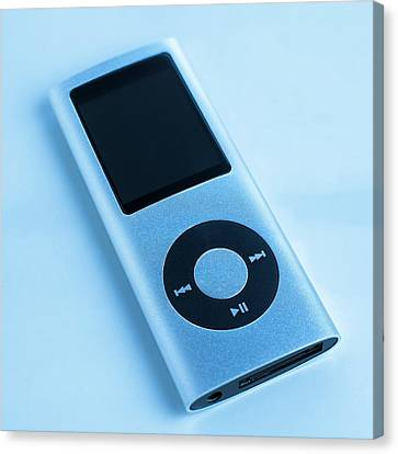 Mp3 Player Canvas Print by Science Photo Library