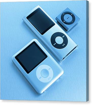 Mp3 Players Canvas Print by Science Photo Library