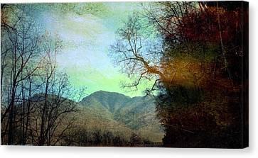 Mprints-smokey Mountain Memories Canvas Print by M  Stuart