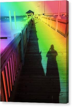 Mprints- The Long Walk Canvas Print by M  Stuart