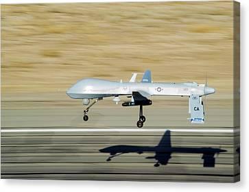 Mq-1 Predator Drone Canvas Print by Us Air Force/effrain Lopez